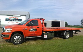 Roll Back Tow Truck in Pierz, MN